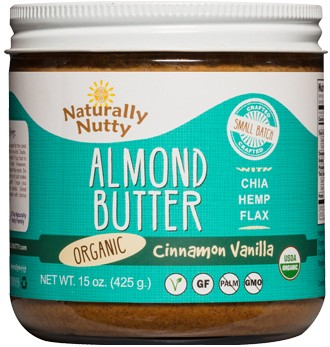 Naturally Nutty - Organic Cinnamon Vanilla Almond Butter 15oz