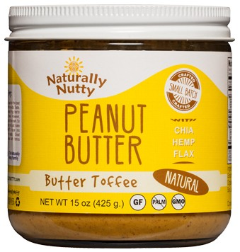 Naturally Nutty -  Toffee Peanut Butter 15oz