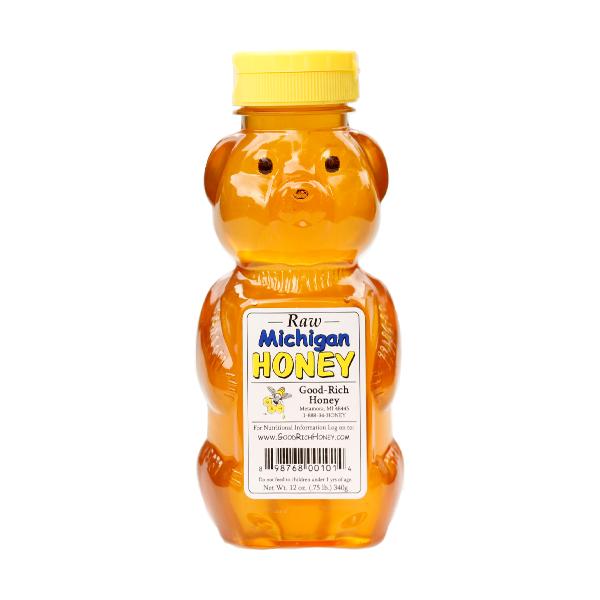 Good-Rich Honey - Raw Honey Bear 12oz