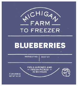 Blueberries - MI Farm to Freezer