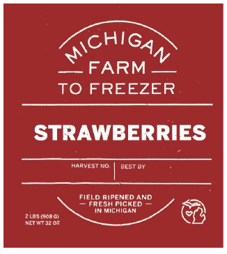 Strawberries - MI Farm to Freezer