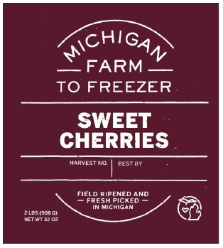 Cherries, Sweet - MI Farm to Freezer