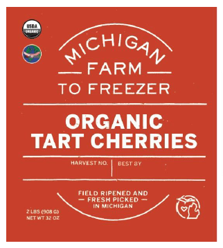 Cherries, Tart Organic - MI Farm to Freezer