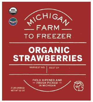 Strawberries, Organic - MI Farm to Freezer