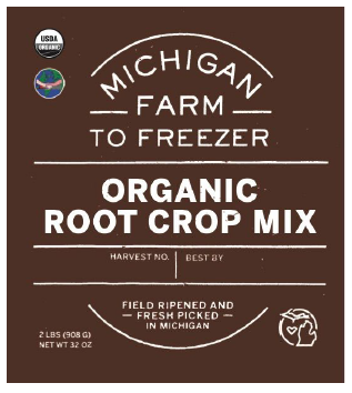 Root Crop Mix, Organic - MI Farm to Freezer