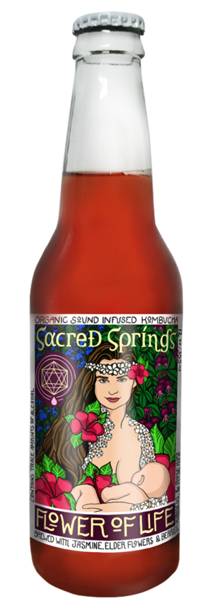 Sacred Springs Kombucha - Flower of Life 6-Pack