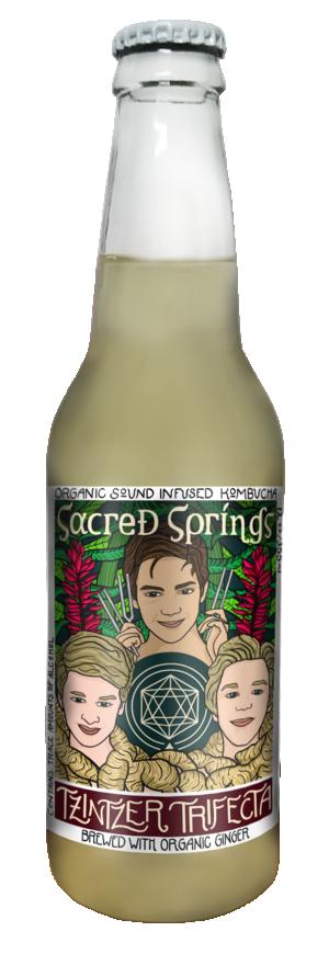 Sacred Springs Kombucha - Tzintzer Triome 12-Pack