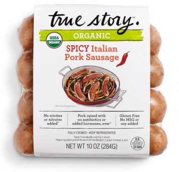 Organic Pork Spicy Sausage - True Story
