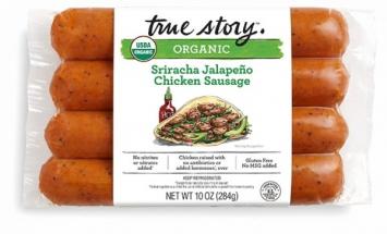 Organic Sriracha Jalapeno Spicy Chicken Sausage - True Story