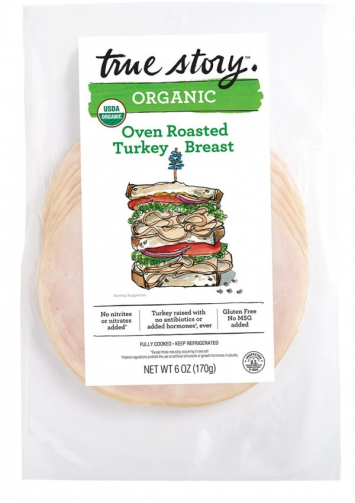 Organic Oven Roasted Turkey Breast  Slices - True Story