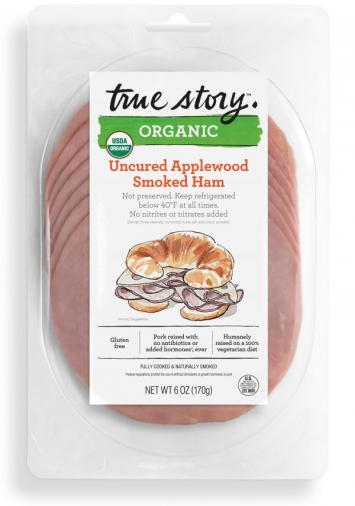 True Story - Organic Applewood Smoked Ham Slices