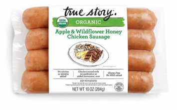 Organic Wildflower Honey Chicken Apple Sausages - True Story