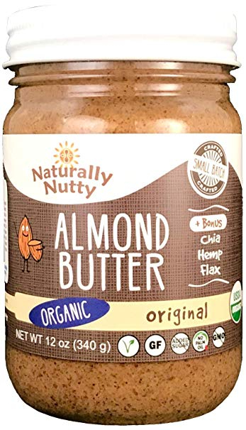 Naturally Nutty - Organic Almond Butter 12 oz