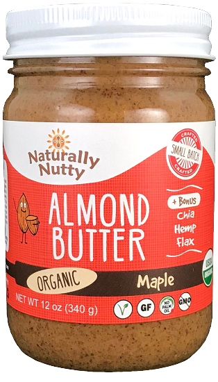 Naturally Nutty - Organic Maple Almond Butter 12 oz NEW SIZE