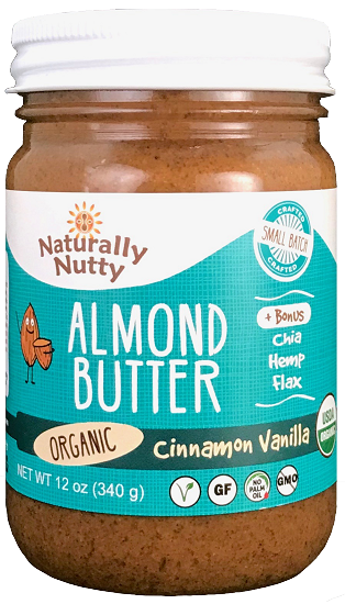 Naturally Nutty - Organic Cinnamon Vanilla Almond Butter 12 oz NEW SIZE