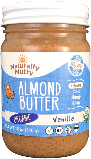 Naturally Nutty Organic Vanilla Almond Butter