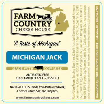 Farm Country Amish Cheese - Jack 8 oz