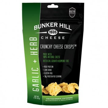 Bunker Hill - Garlic & Herb Crunchy Cheese Crisps