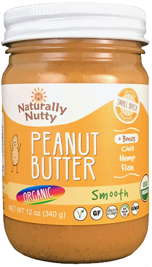 Naturally Nutty - Organic Natural Peanut Butter, Smooth 8 oz