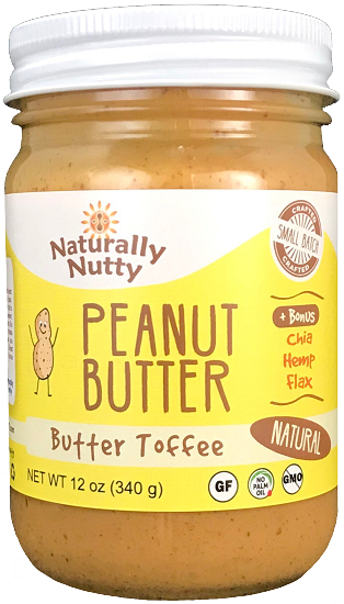 Naturally Nutty - Toffee Peanut Butter 8 oz