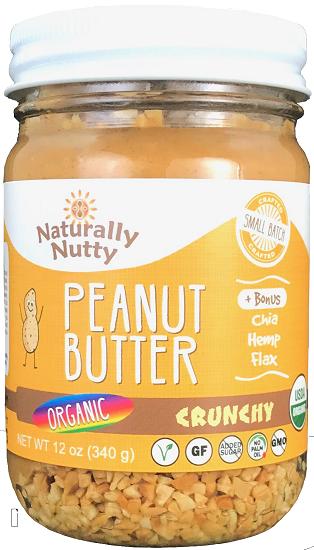 Naturally Nutty - Organic Natural Peanut Butter, Crunchy 8 oz