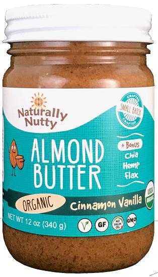 Naturally Nutty - Organic Cinnamon Vanilla Almond Butter 8 oz