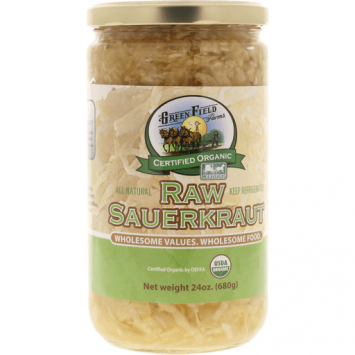 Green Field Farms - Organic Raw Sauerkraut 24oz