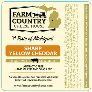 Farm Country Amish Cheese - Sharp Yellow Cheddar 8 oz