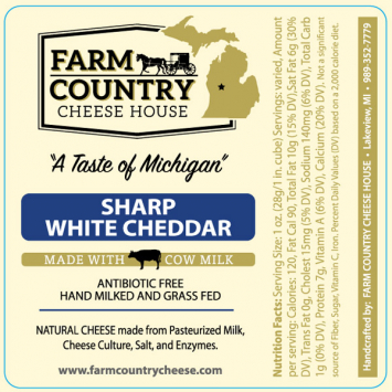Farm Country Amish Cheese -  Sharp White Cheddar