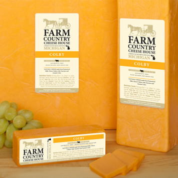 Farm Country Amish Cheese - Colby Cheese * 5LB BLOCK *