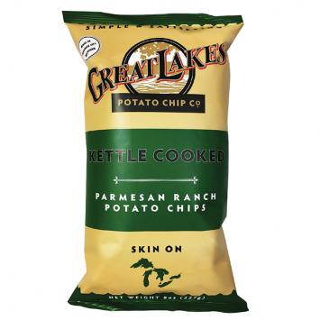 Great Lakes NON-GMO Potato Chips - Parmesan Ranch 16 oz