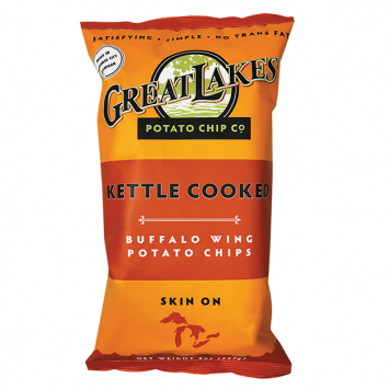 Great Lakes NON-GMO Potato Chips - Buffalo Wing 8 oz