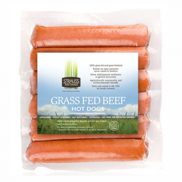 Strauss 100% Grass Fed Hot Dogs
