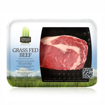Strauss 100% Grass Fed Boneless Rib Eye