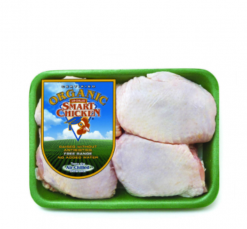 Smart Chicken Organic Bone-in/Skin-on Thighs