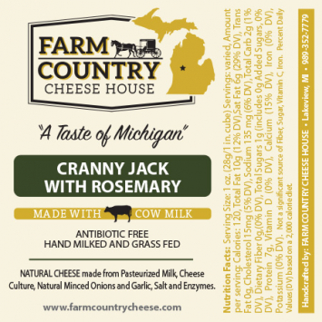 Farm Country Amish Cheese - Cranny Jack with Rosemary