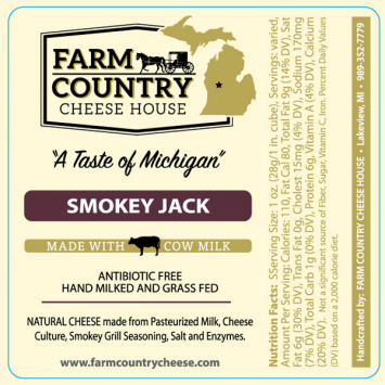 Farm Country Amish Cheese - Smokey Jack