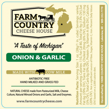 Farm Country Amish Cheese - Onion & Garlic