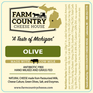 Farm Country Amish Cheese - Olive