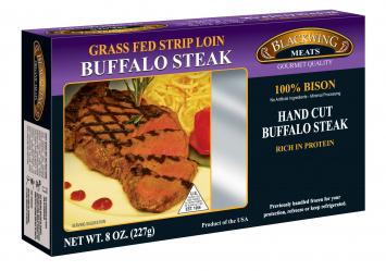 Blackwing Grass Fed Buffalo NY Strip Steak