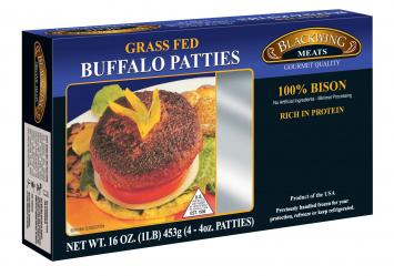 Blackwing Grass Fed Buffalo Patties