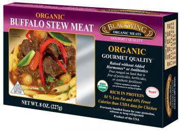 Blackwing Organic Buffalo Stew Meat