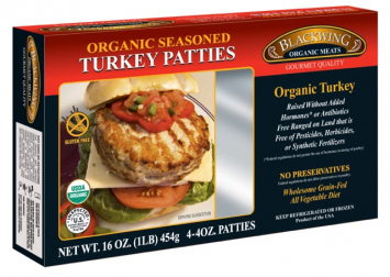 Blackwing Organic Seasoned Turkey Patties