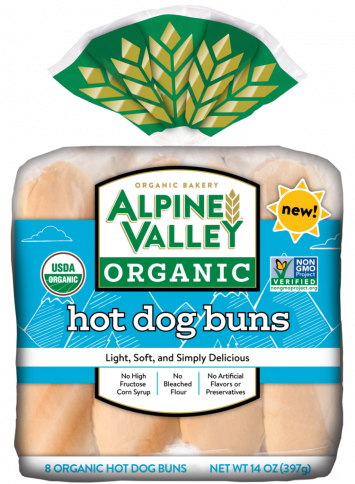 Alpine Valley Organic Bakery — Hot Dog Buns