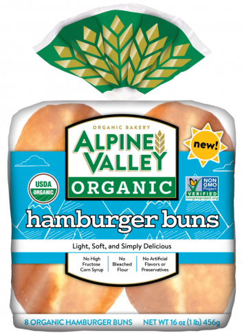 Alpine Valley Organic Bakery — Hamburger Buns