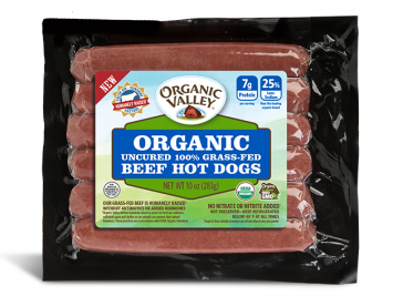 Organic Valley — Uncured Grass-Fed Beef Hot Dogs