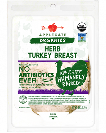 Applegate Organics — Certified Organic Herb Turkey Breast
