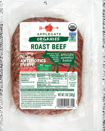 Applegate Organics — Certified Organic Grass Fed Roast Beef