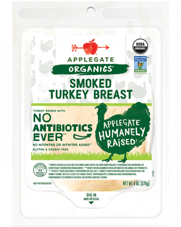 Applegate Organics — Certified Smoked Turkey Breast