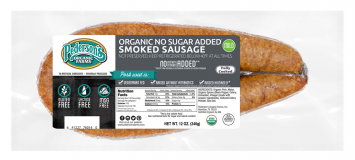 Pederson's - Organic Smoked Rope Sausage, No Sugar Added